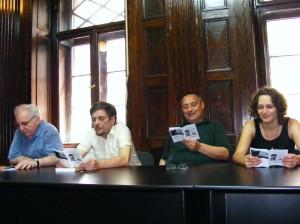 c ungureanu, O, vighi, moni citind din marii oameni ai revolutiilor la sediul rev Orizont